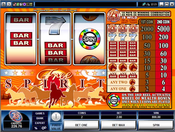 Play Free Spirit Video Slot for FREE