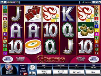 Play Harveys Video Slot for FREE