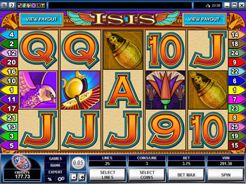 Play Isis Video Slot for FREE