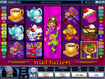 Mad Hatters Video Slots game