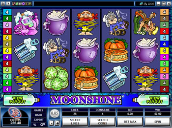 Play Moonshine Video Slot for FREE