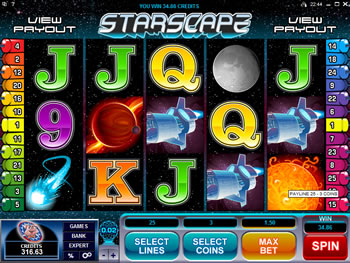 Play Starscape Video Slot for FREE