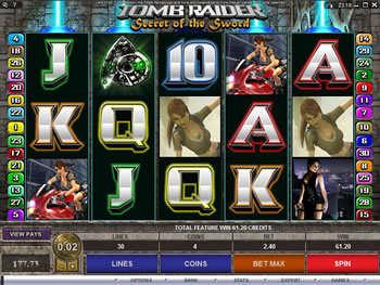Play Tomb Raider - Secret of the Sword Video Slot for FREE
