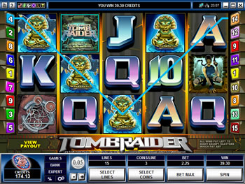 Play Tomb Raider Video Slot for FREE